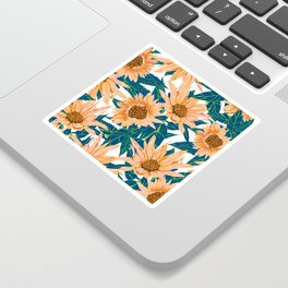 Blush Sunflowers Sticker