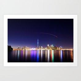 Toronto Vibrant nightscape Art Print