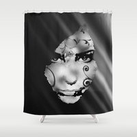mirror Shower Curtains featuring Mirror Mirror by George Michael Art