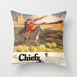 Vintage poster - The Chiefs Throw Pillow