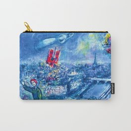 View of Paris by Marc Chagall Carry-All Pouch