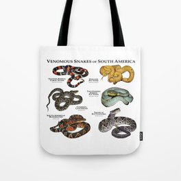 Venomous Snakes of South America Tote Bag