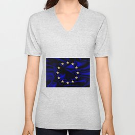 EU Silk Flag Unisex V-Neck