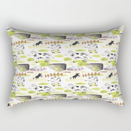 abducted cow pattern Rectangular Pillow