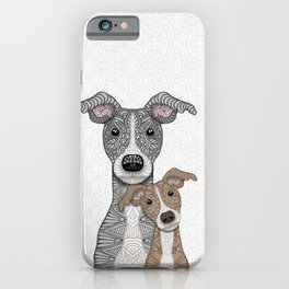 Blue & Fawn iPhone Case