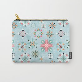 Christmas snowflakes pattern Carry-All Pouch