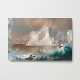 Frederic Edwin Church - The Icebergs Metal Print