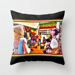 House Of Rastafari / Rototom Sunsplash 2011 Throw Pillow