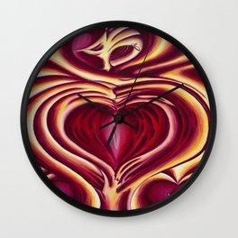 4 of hearts Wall Clock