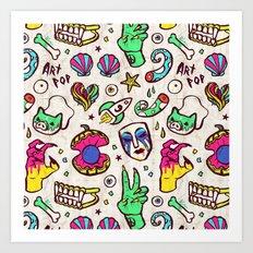 Rocket Number 9 Art Print