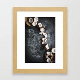 Cracked Coconut Still Life Framed Art Print