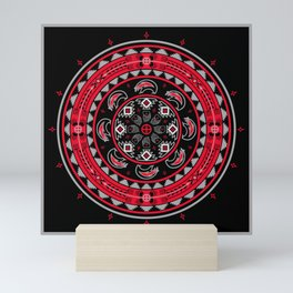 Bear Spirit (Red) Mini Art Print