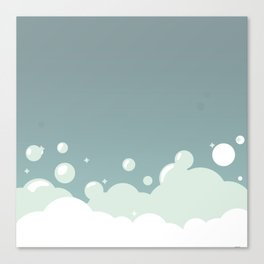 Soap foam bubbles background Canvas Print