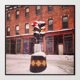 Snowy Dummy Light - Beacon NY Canvas Print