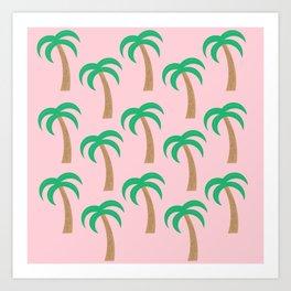 Palm Pattern Art Print