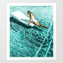 Pool Day #society6 #painting #summer Art Print