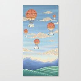 Flying Sheeps Canvas Print