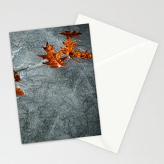 Autumn Leaves on Ice Stationery Cards