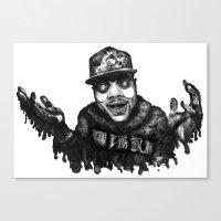chance the rapper Canvas Prints featuring Chance the Rapper Lithograph by Drewnelz