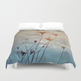 Soft Queen Anne's Lace and Bokeh Duvet Cover