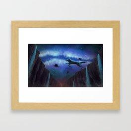Flies With Ravens Framed Art Print