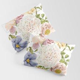 Radiant Blooms Watercolor Bouquet Pillow Sham