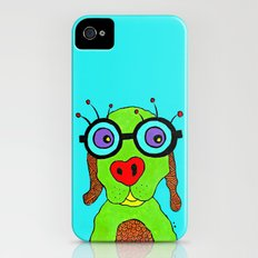 dog with glasses iPhone (4, 4s) Slim Case