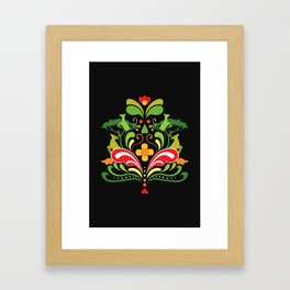 Kurbits safari pattern design Framed Art Print