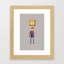Pixel Plumber Framed Art Print