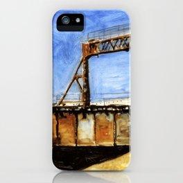 Railway Bridge Five Roses reflected II iPhone Case