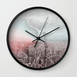 Frozen grass Wall Clock