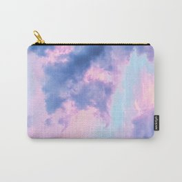 Pastel Purple Lilac Fluffy Fantasy Fairytale Sunset Clouds In The Sky Carry-All Pouch