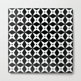 Geometric Pattern 247 (white crosses) Metal Print