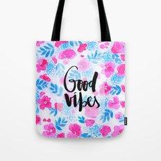 Good Vibes Collaboration by Jacqueline Maldonado and Galaxy Eyes Tote Bag