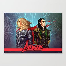 Sons of Odin - Thor & Loki Canvas Print