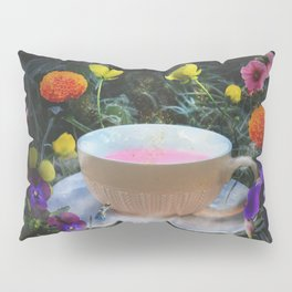 Flowers and Tea in Wonderland Pillow Sham