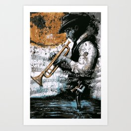And Now, Playing Us Out, The Sweet Sounds Of Legendary Jazz Trumpeter UNCO-895i Art Print