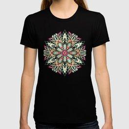 Tribal Geometric brown and green Mandala T-shirt