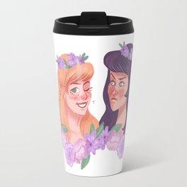 xena and gabrielle - flower crowns Travel Mug