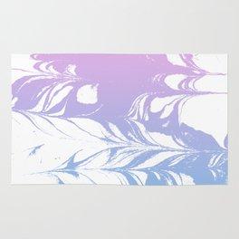 Suminagashi pastel marble blue and pink minimal painting watercolor ocean swirl Rug
