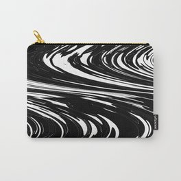 Zigzags in White and Black Carry-All Pouch