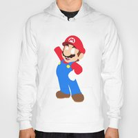 super mario Hoodies featuring Super Mario by Valiant