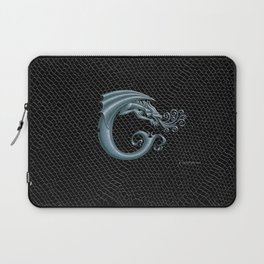 Dragon Letter C, from Dracoserific, a font full of Dragons. Laptop Sleeve