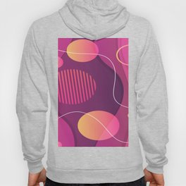 Red Orange And Purple Abstract Design Hoody