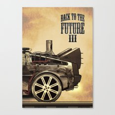 Back to the future III Canvas Print