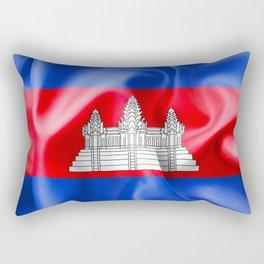 Cambodia Flag Rectangular Pillow