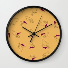 Guitar picks and sticks Wall Clock