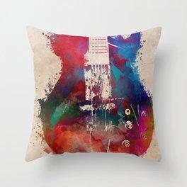 guitar art 6 #guitar #music Throw Pillow