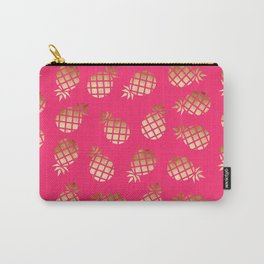 Elegant gold pineapple pattern Carry-All Pouch