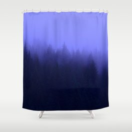 Periwinkle Fog 0367 - Seward, Alaska Shower Curtain